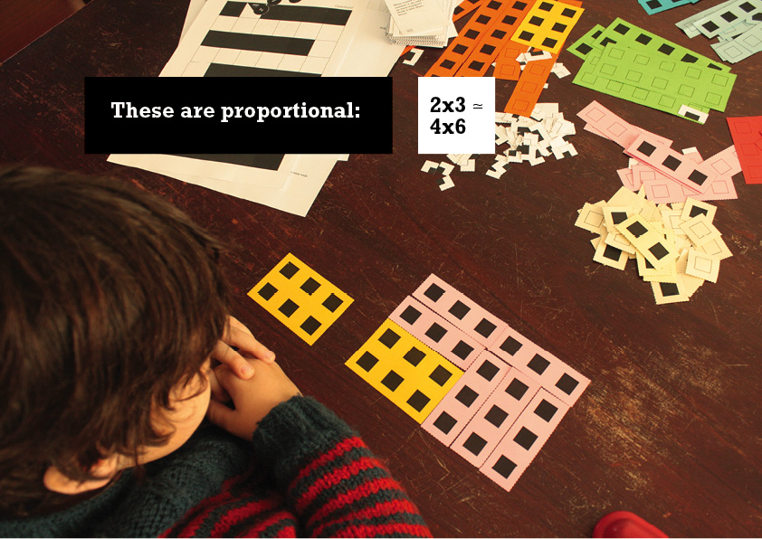 And 2 x 3 is proportional to 4 x 6