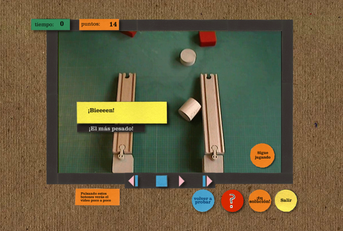Each section has a video experiment to see how things behave in real life. Here is an example for the weight.