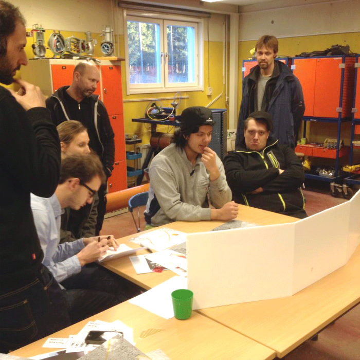 testing our concept with forestry students (future drivers)