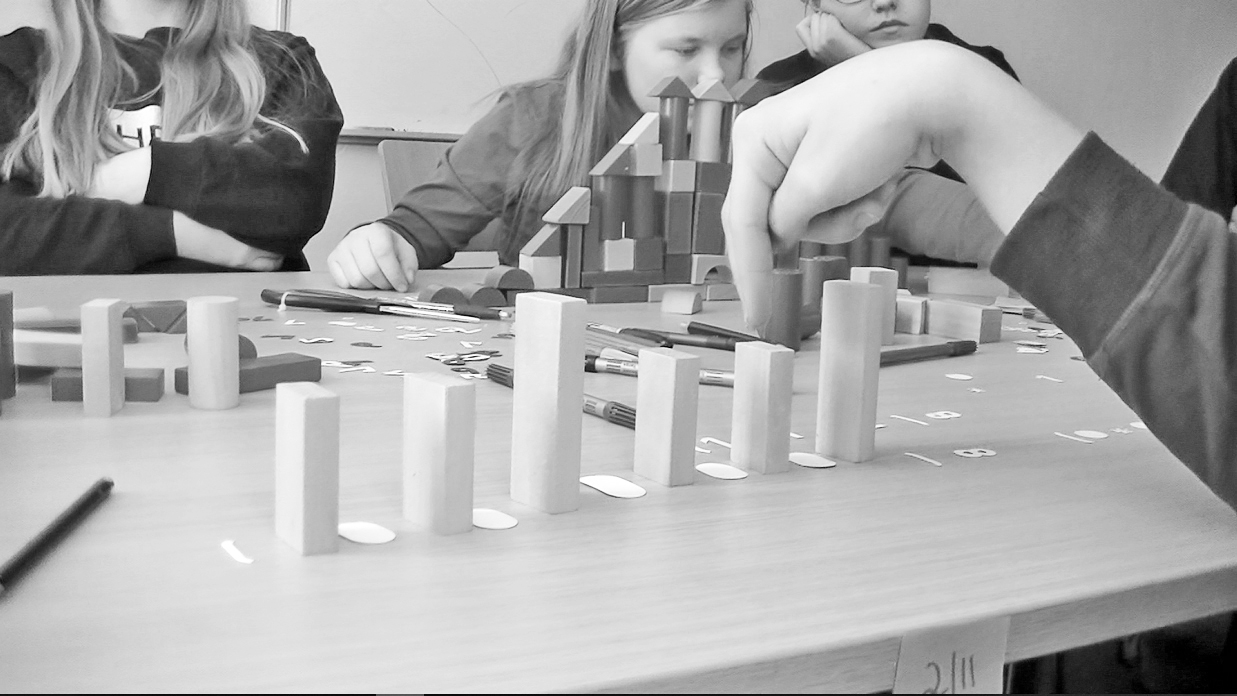 Representing sound with blocks